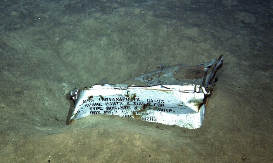Spare parts box from the USS Indianapolis