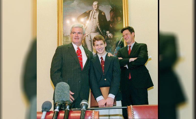 Newt Gingrich, Hunter Scott, Joe Scarborough