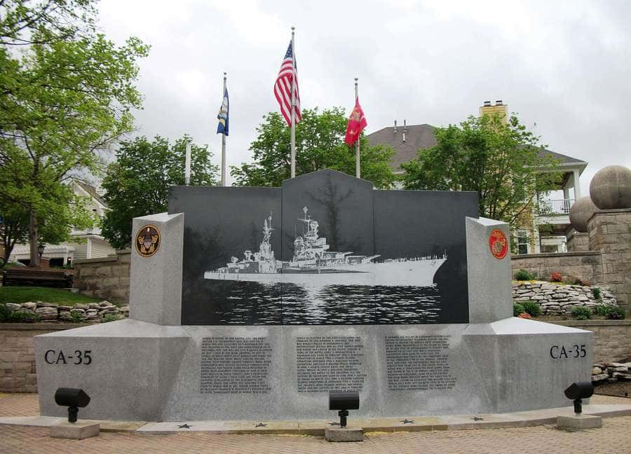 the USS Indianapolis Monument