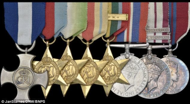 The medals of Commander Ian Forbes
