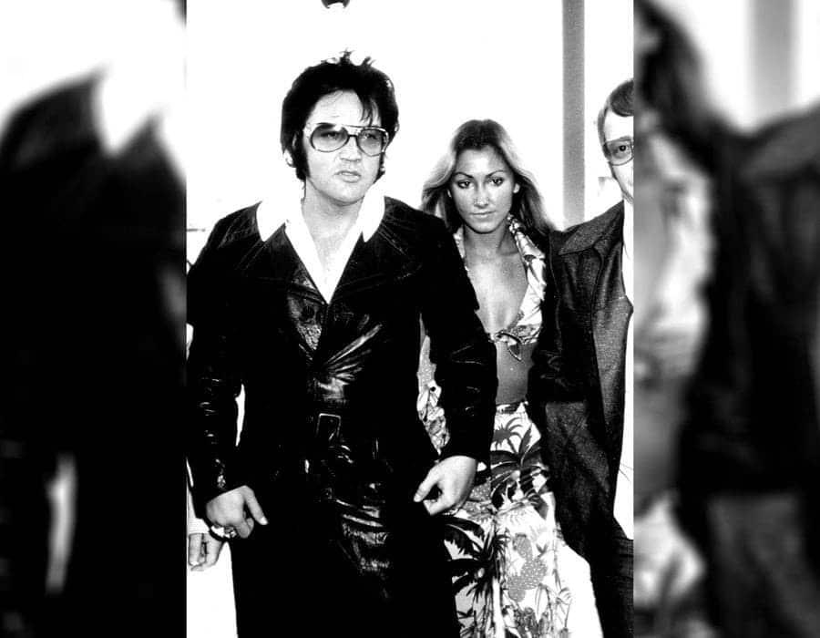 Elvis Presley with Linda Thompson in Las Vegas
