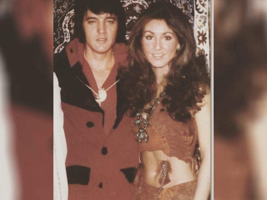 Elvis Presley with Linda Thompson