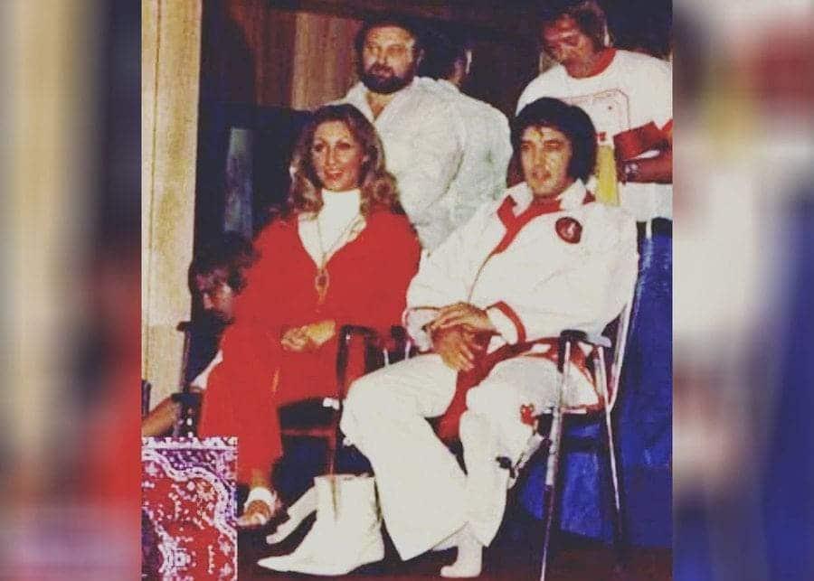 Linda Thompson, Marty Lacker, Richard Davis, Elvis