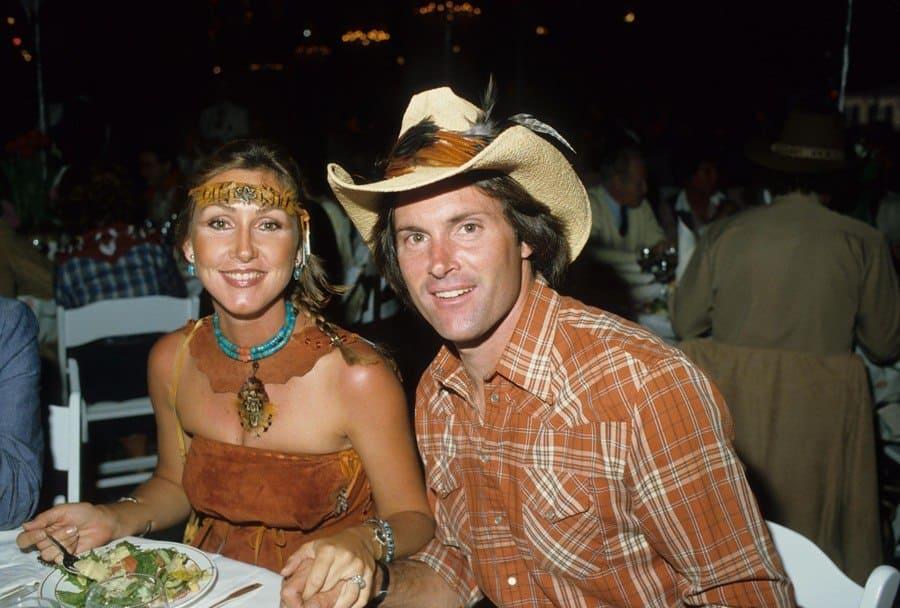 Bruce Jenner with Linda Thompson 1983