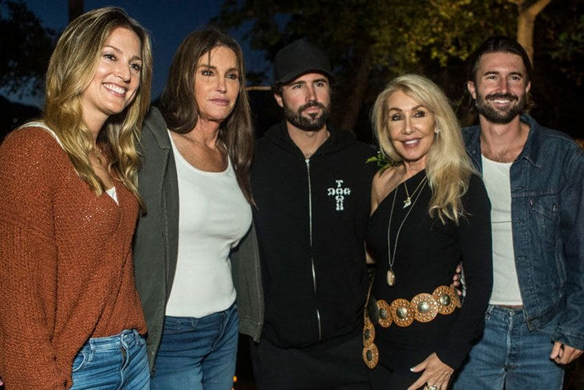 Caitlyn Jenner, Linda Thompson, and their sons, Brody and Brandon