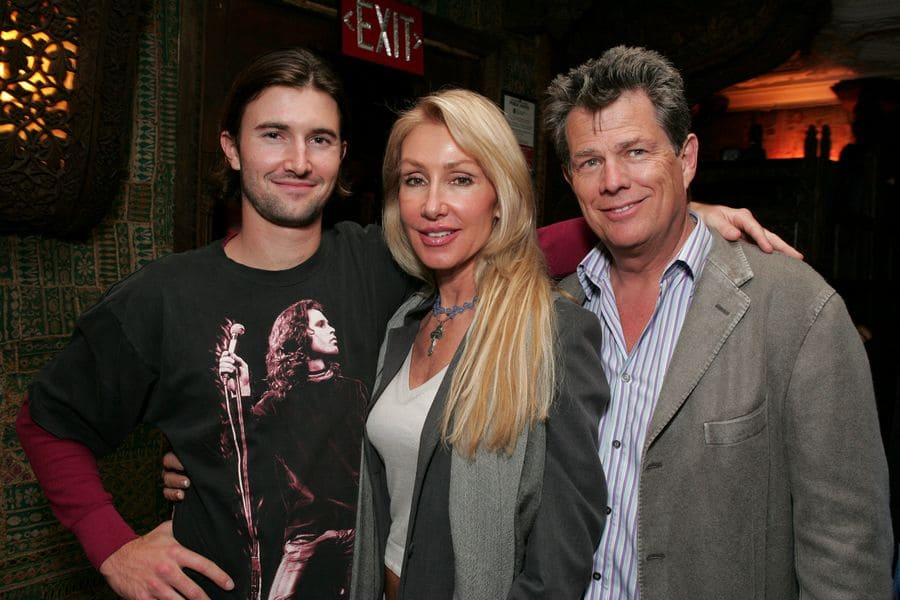 Brandon Jenner, Linda Thompson, and David Foster