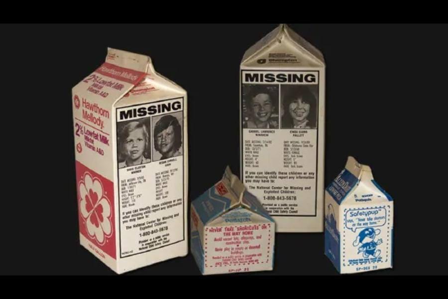 Disappearance of Etan Patz Photo on a Milk Carton Missing