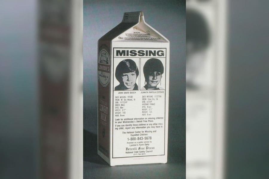 missing children milk carton