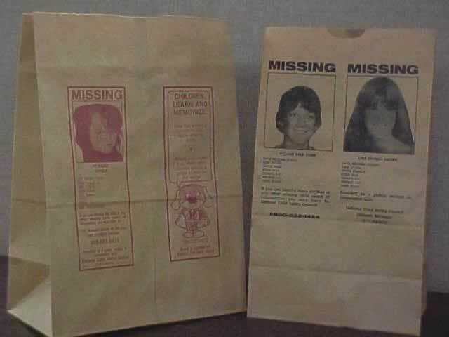 Missing Children Grocery Bag Program