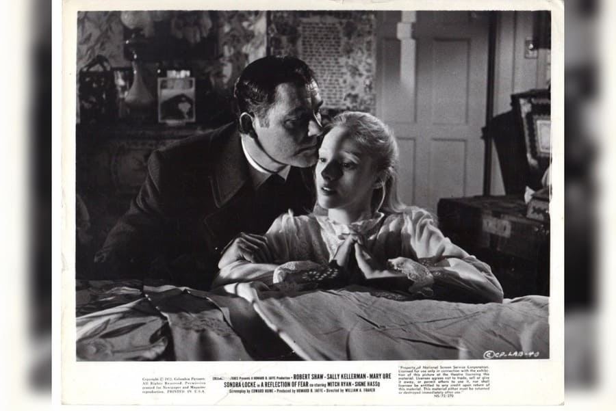 Robert Shaw and Sondra Locke in A Reflection of Fear (1972)