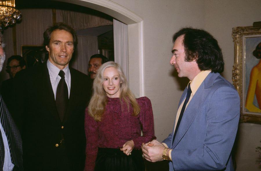 Clint Eastwood, Sondra Locke and Neil Diamond.