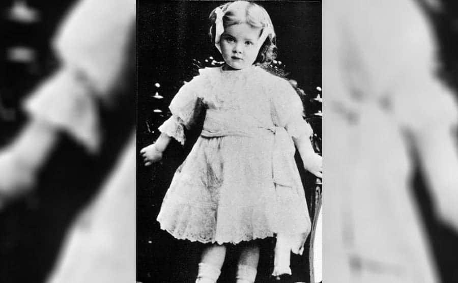 Marlene Dietrich as a baby