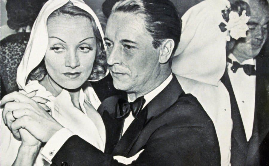 Marlene Dietrich and Rudolf Sieber dancing at Fefe's Monte Carlo Nightclub in 1939.