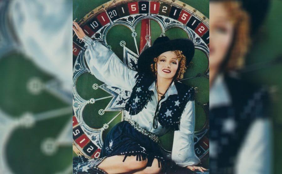Marlene Dietrich in 'Destry Rides Again' 1939.
