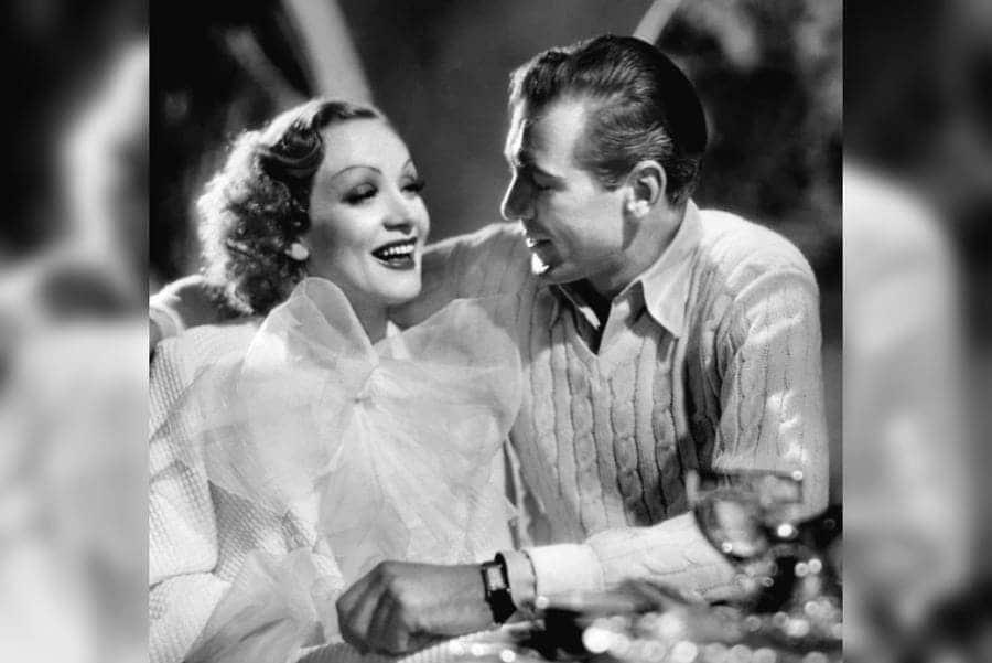 Marlene Dietrich and Gary Cooper in 'Desire' 1936.