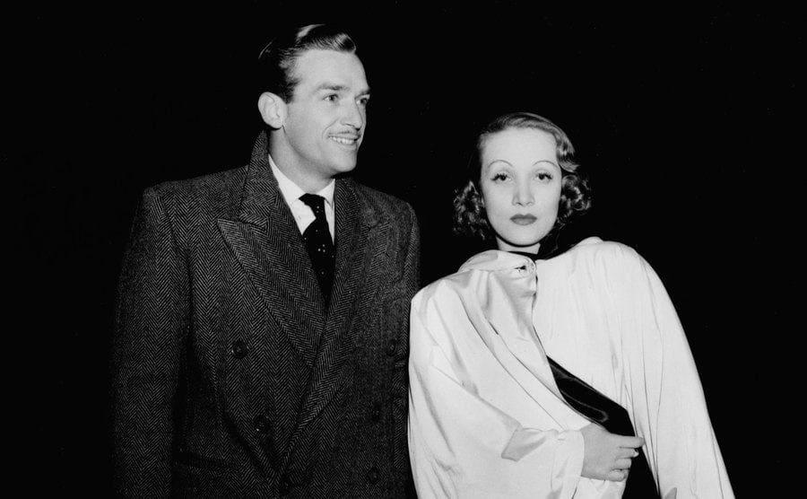 Marlene Dietrich and Douglas Fairbanks Jr in 1938.