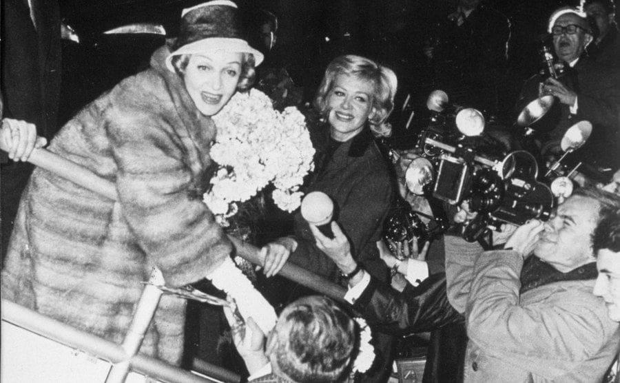 Marlene Dietrich arriving in Berlin in 1960.