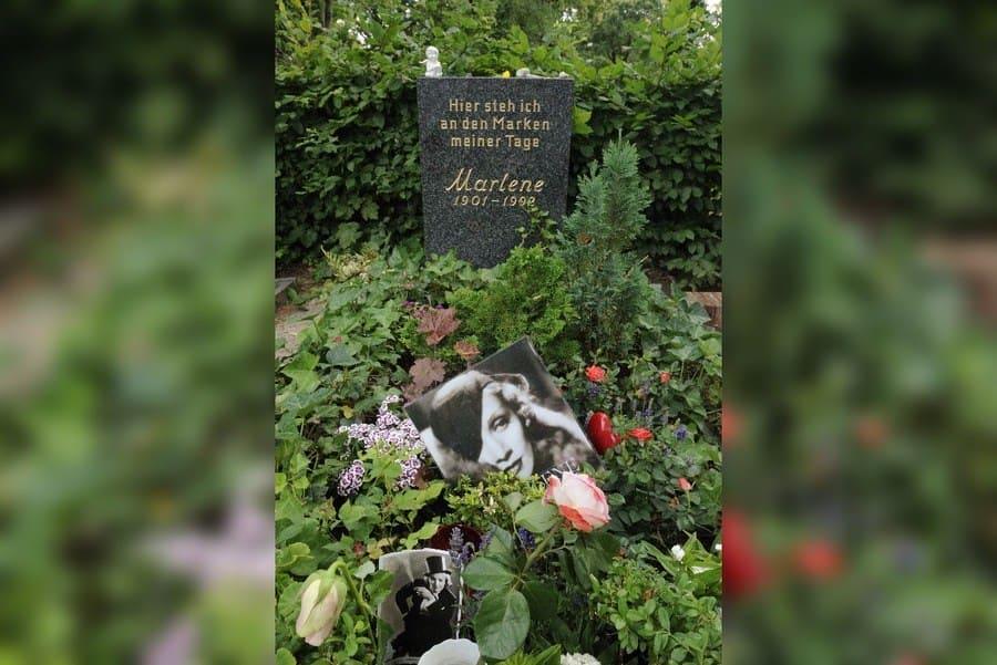 Grave of Marlene Dietrich.