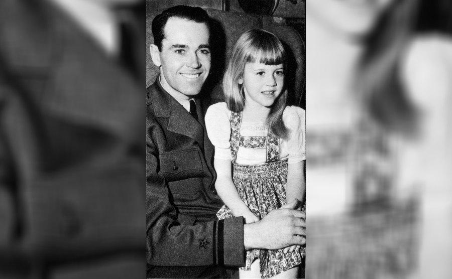 Jane Fonda and Henry Fonda, her father, in 1944.