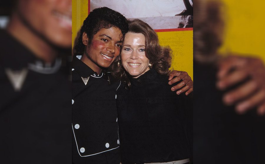 Michael Jackson and Jane Fonda in 1983.