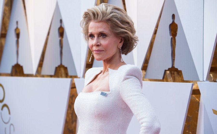 Jane Fonda at the Oscars in 2018