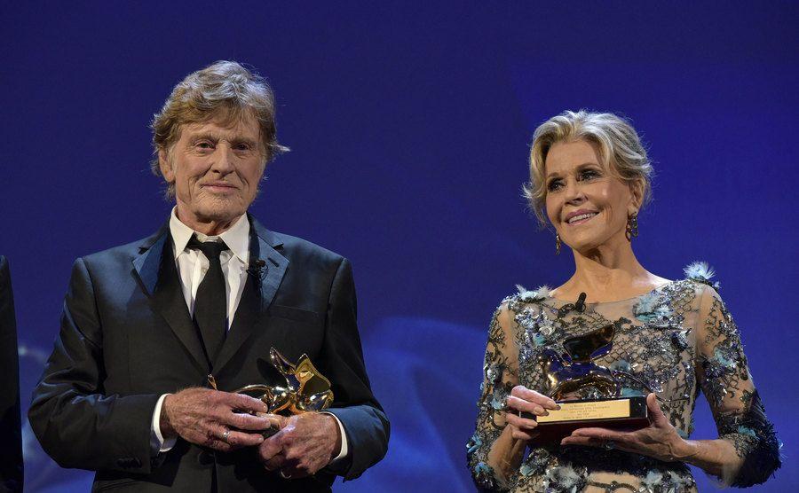 Jane Fonda and Robert Redford are holding Lifetime Achievement Awards.