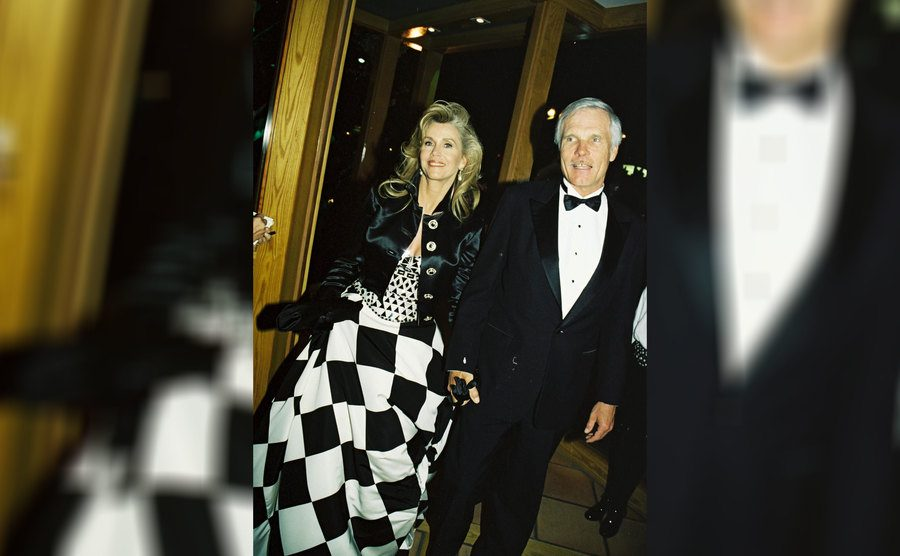 Jane Fonda and Ted Turner at the Vanity Fair Post Oscar Party in March 1995