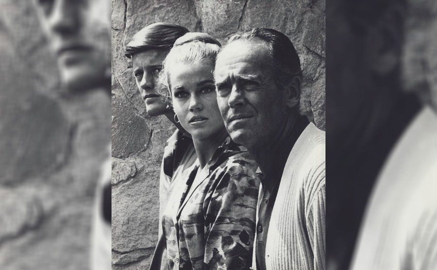Peter, Jane, and Henry Fonda in the 1960s.