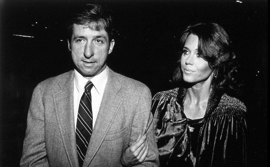 Jane Fonda and Tom Hayden in 1982.