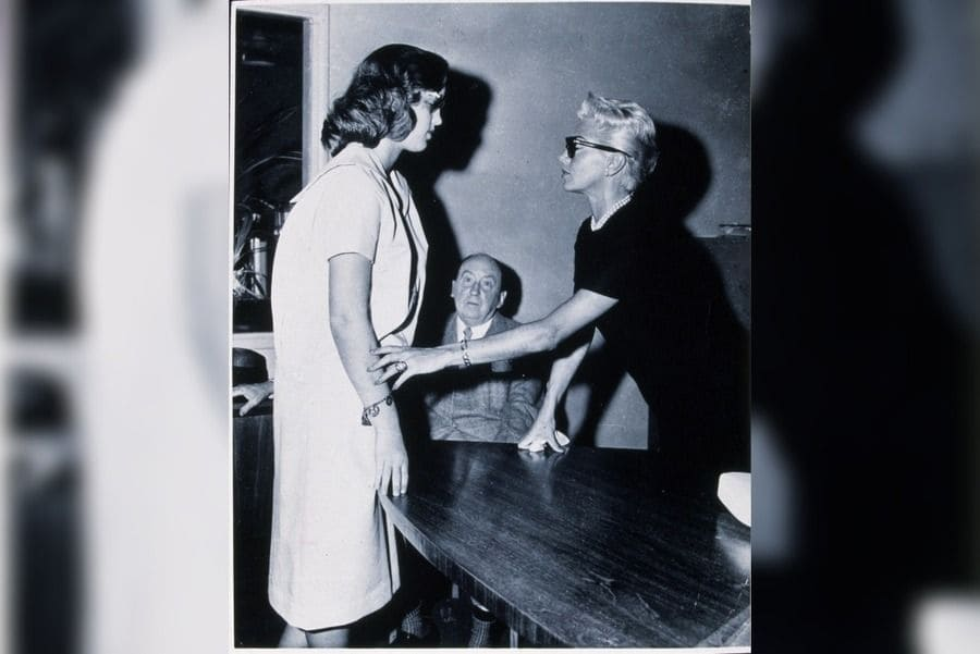 Courtroom, Cheryl Crane, Jerry Geisler, Lana Turner in 1958