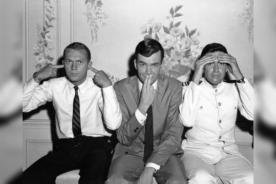 Steve McQueen, Jim Hutton, Jack Mullaney, The Honeymoon Machine - 1961