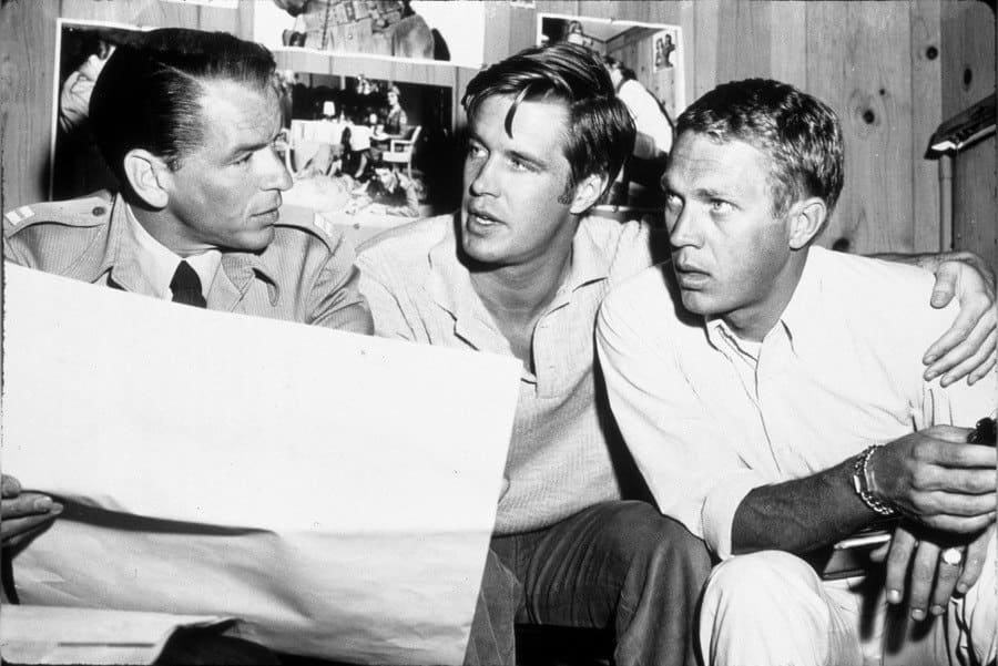 Film Stills of 'Never so Few' With Steve Mcqueen, George Peppard, Frank Sinatra, John Sturges in 1959