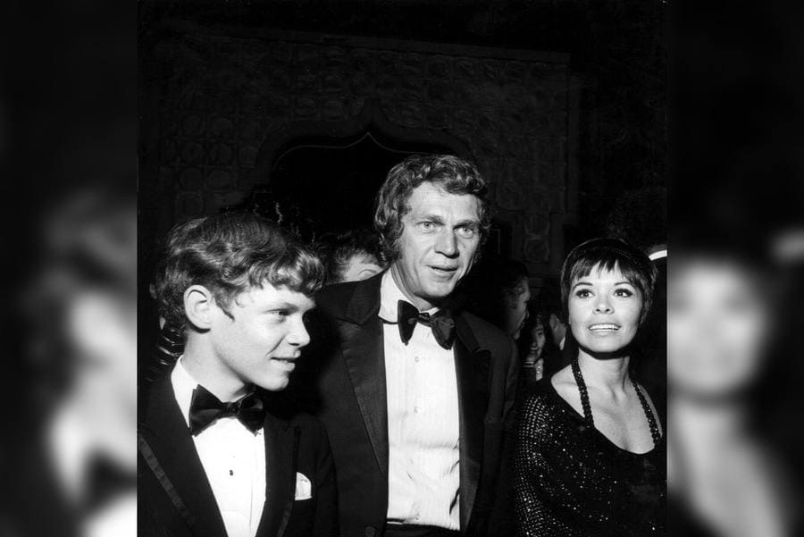 Steve Mcqueen and Family (Neile and Chad), 27th Golden Globes Awards February 2nd, 1970