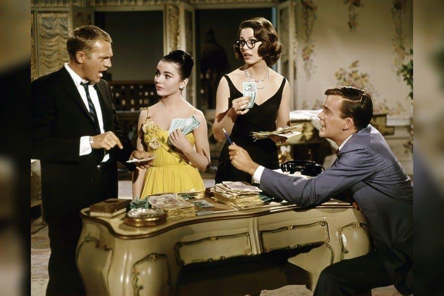 The Honeymoon Machine - 1961. Jim Hutton, Paula Prentiss, Brigid Bazlen, Steve McQueen