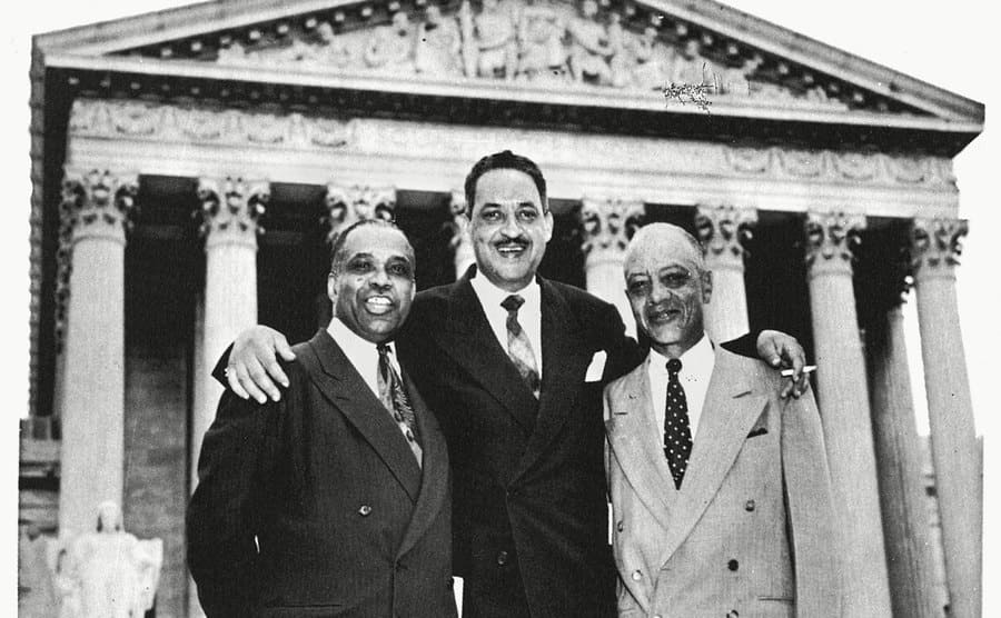 NAACP Attorneys George EC Hayes, Thurgood Marshall, and James Nabrit Jr