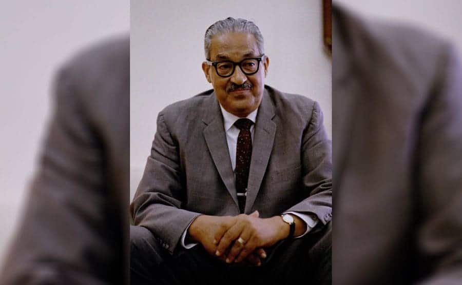 Thurgood Marshall on the day that President Johnson nominated him to the Supreme Court, June 13, 1967.