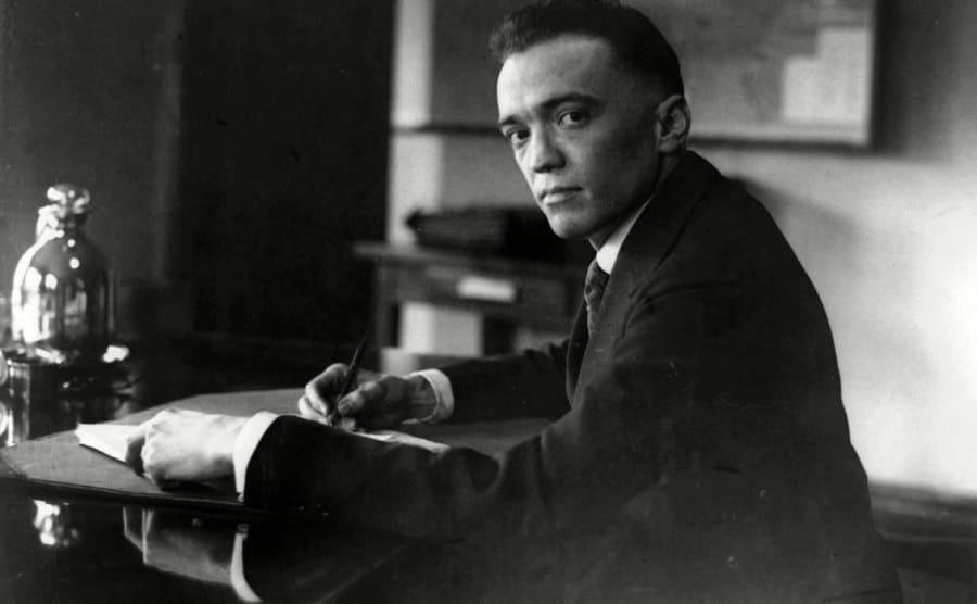 Edgar J Hoover, director of the FBI, in 1924.