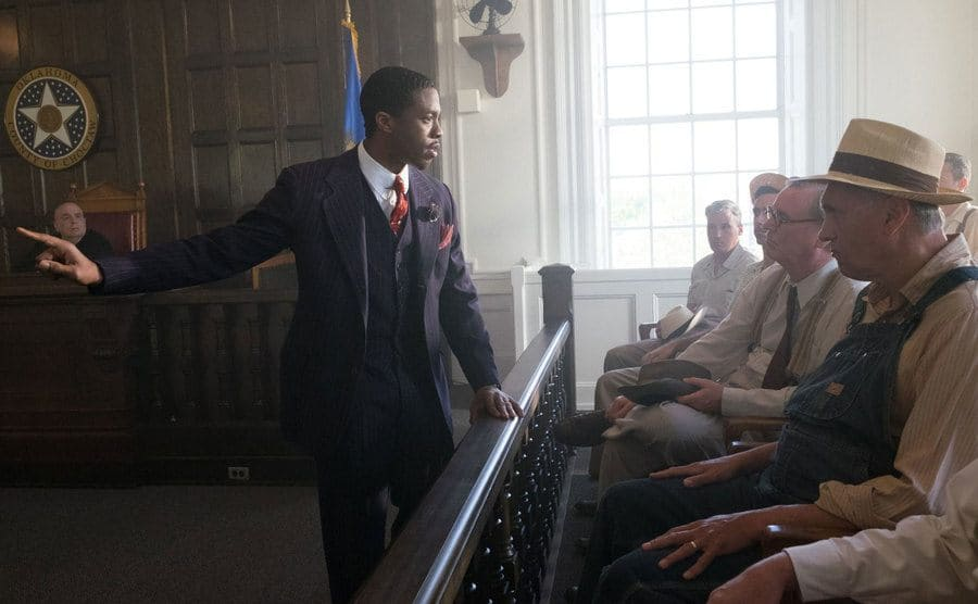 Chadwick Boseman in 'Marshall.'