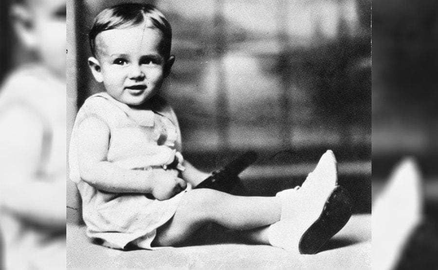 James Dean as a baby