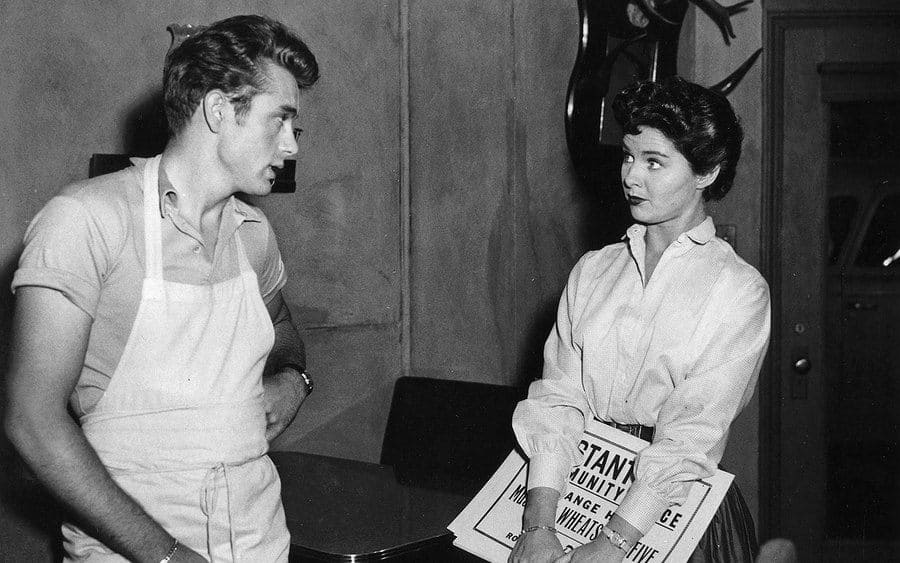 James Dean in an apron and Pat Hardy in 'The Schlitz Playhouse of Stars' in 1951.