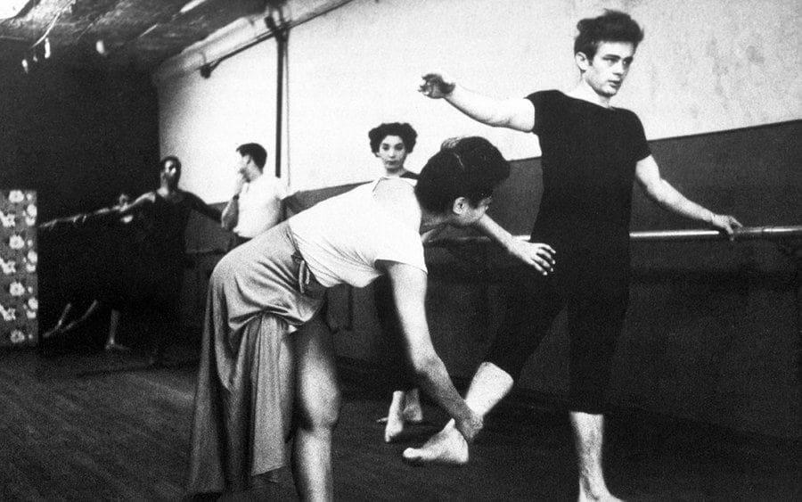 James Dean practicing ballet.