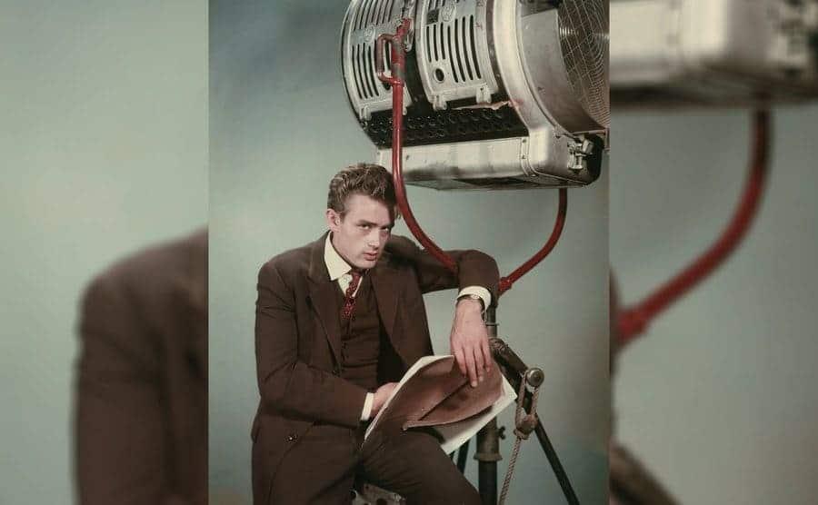 A portrait of James Dean