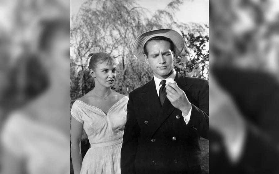 Joanne Woodward, Paul Newman, on-set of the Film, 'The Long, Hot Summer,' 20th Century Fox Film Corp., 1958