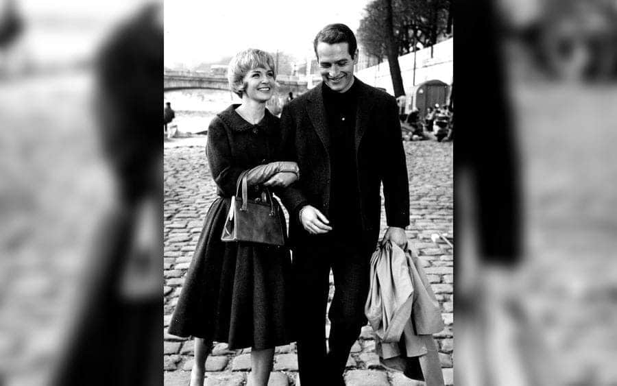 Film Still Featuring Paul Newman and Joanne Woodward in Paris Blues