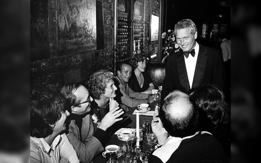 Paul Newman Smiling at His Birthday Party