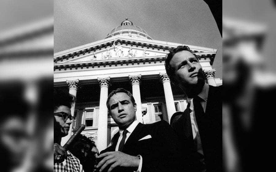 Marlon Brando and Paul Newman