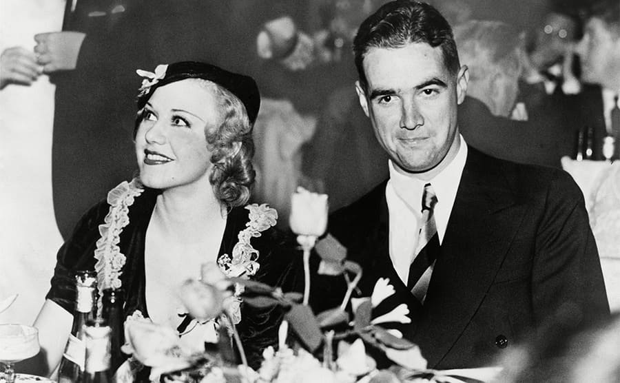 Ginger Rogers and Howard Hughes at an event together