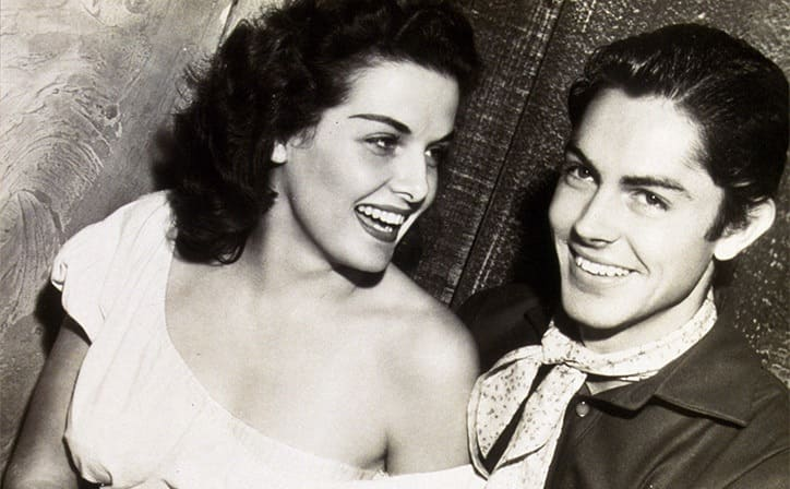 Jane Russell and Jack Buetel in The Outlaw