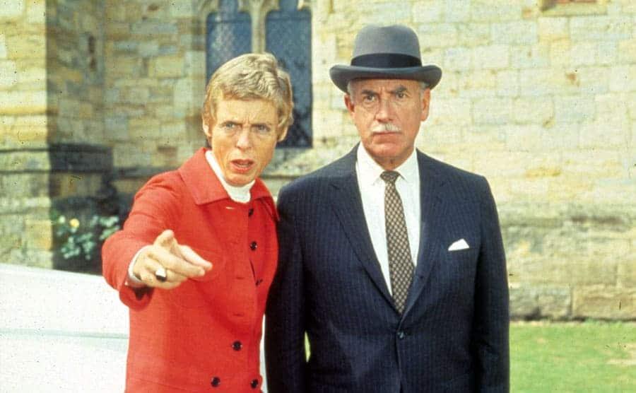 Nancy Culp and Raymond Bailey in The Beverly Hillbillies