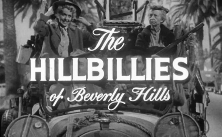 The opening credits of the original pilot with 'The Hillbillies of Beverly Hills' written